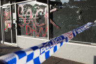 Daniel Andrews' electoral office in Noble Park was vandalised overnight.