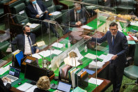 Daniel Andrews and Michael O'Brien during Question Time on  Tuesday.
