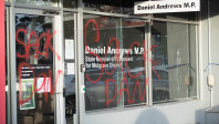 It was the second time the office was vandalised in less than a month.