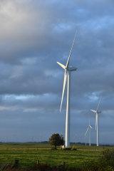 The Bald Hills Wind Farm in Tarwin Lower, South Gippsland.