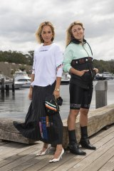 Pip Edwards (left) and Claire Tregoning of PE Nation. The brand is the first Australian label to create a collection for fast-fashion giant H&M.