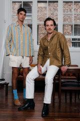 Designer Jeremy Hershan and model Cal Fernie wearing Haulier.