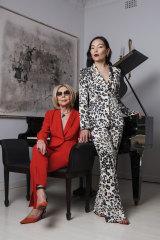 Catwalk collaboration ... designer Carla Zampatti (left) and singer Dami Im in Sydney.