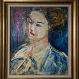 Danila Vassilieff, Lisa with Hair Up, 1947.