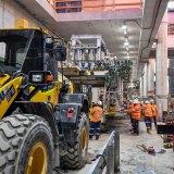 Metro tunnel construction.