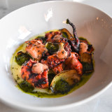 Grilled octopus at Bartolo.