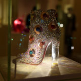 """""""He loves rocks, shells, crowns and crosses"""": at item from Christian Louboutin's """"The Exhibitionist""""."""