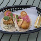 Crispy fish tacos at Navy Bear.