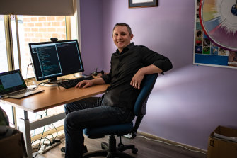 Joel Baltaks is a software engineer who is enjoying working from his North Richmond home.