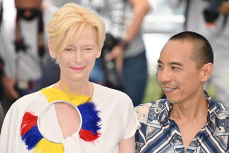 Tilda Swinton and Apichatpong Weerasethakul in Cannes this month.