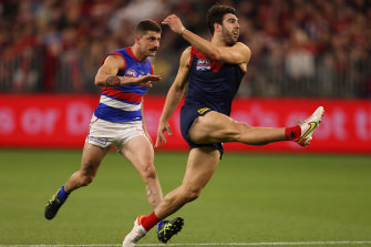 Christian Petracca in action for the Demons during the grand final.