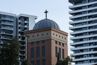 A number of apartment buildings already tower over the Coptic Church at Rhodes.