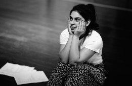 Izabella Yena in rehearsals for Kerosene by Theatreworks.