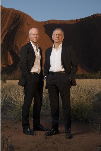 Former airline bosses Brett Godfrey, left, and Geoff Dixon, who created the Australian Walking Company.