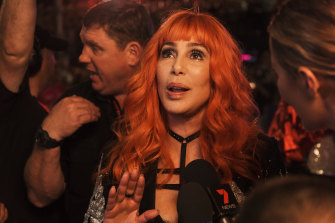 Cher in Sydney at this year's Mardi Gras.