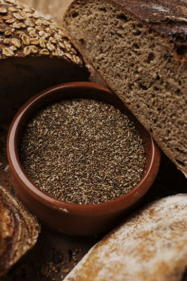 The seed can be milled into flour or placed into the bread's dough.