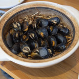 Standout dish: The mussels cooked in lucerne hay.