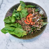 The vegan larb at BangPop.