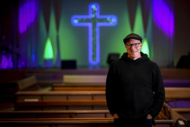 Scott Hawkins, co-ordinator of the Winter Shelter program, pictured at Heathmont Baptist Church.