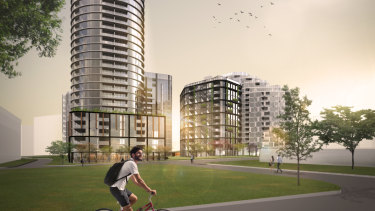 An artist's impression of Geocon's Wova development in Woden.