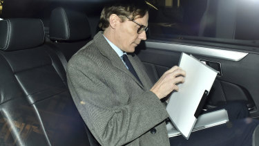 The former chief executive of Cambridge Analytica, Alexander Nix, in London.