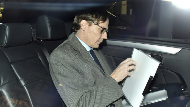 Chief Executive of Cambridge Analytica (CA) Alexander Nix, leaves the offices in central London after being suspended.