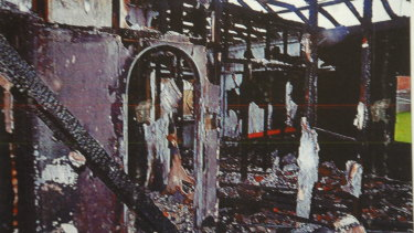 The Coniston home after the fire.