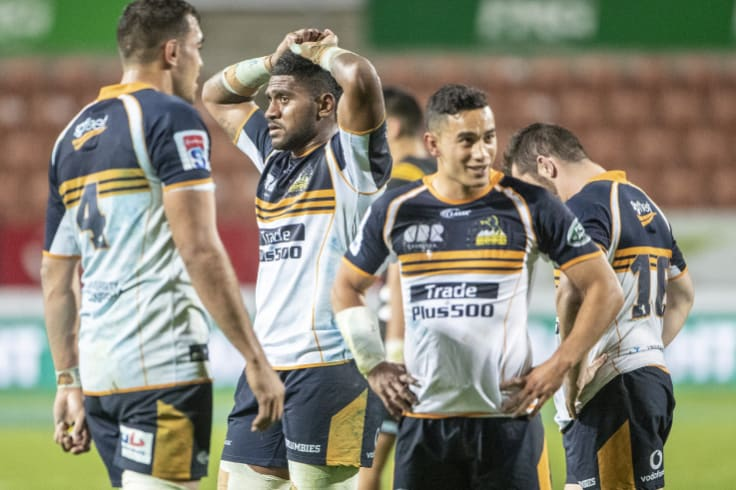 The Brumbies scored the last 14 points of the game, but couldn't beat the Chiefs.