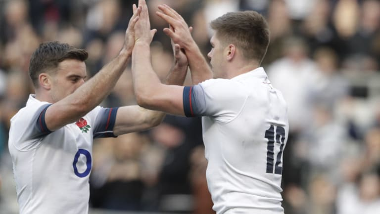 Tried and tested: Owen Farrell, right, and George Ford.