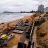 Construction begins on northern beaches sea wall despite 'vexed' funding issues