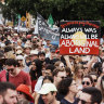 'We don't know how many': Sydney Invasion Day rally likely to be well over limit, organisers say