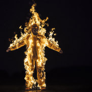 A still from the film Inextinguishable Fire byCassils.