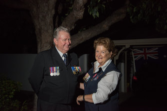 Navy veterans Elaine and Lloyd Blake