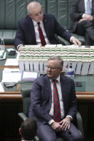 The seats of power ... Opposition Leader Anthony Albanese and Prime Minister Scott Morrison.