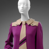 A Mary Quant pink dress with tie