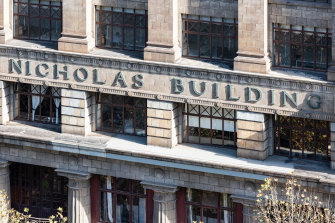 The Nicholas Building at 37 Swanston Street is home to creatives and crafters.