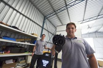 Joshua Portlock andRichard Charlton founders of Electro Aero at their Jandakot headquarters.