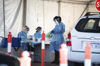 People rushed to get tested in Perth.