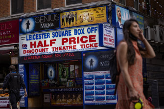 London's famous West End theatres remain closed.
