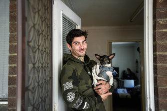Jason Windsor and pet dog Dee.