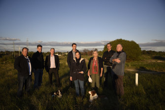 Members of the resident group Friends of Mt Claremont Fields at the old tip site.