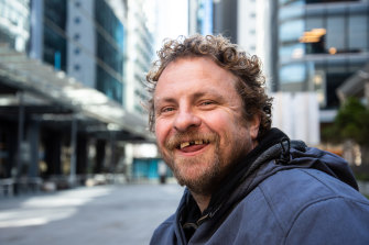 Simon Sherlock has been living on the streets of Perth on and off for nearly two years.