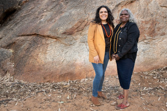 Jacinta Price with her mother, Bess, a former Northern Territory government minister.