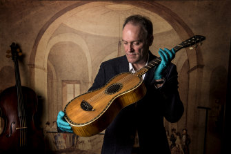 Curator Matthew Stephens said the guitar had been dated circa-1816 and was made by Pierre Flambeau, a Parisian luthier.