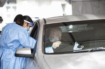 A drive-through COVID-19 clinic in Perth tests residents for the virus as part of the latest outbreak.