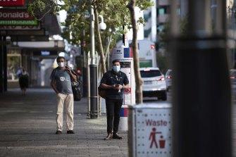 Perth's CBD was pretty quiet on Monday morning.