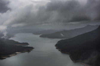 Lake Burragorang, which makes up Warragamba Dam, will continue to get huge inflows for days to come.