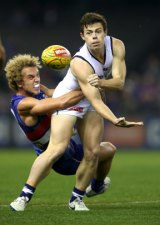 Lachie Neale, right, is hoping to move to Brisbane.