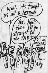 Bruce Petty cartoon published in The Age on June 4, 1990.