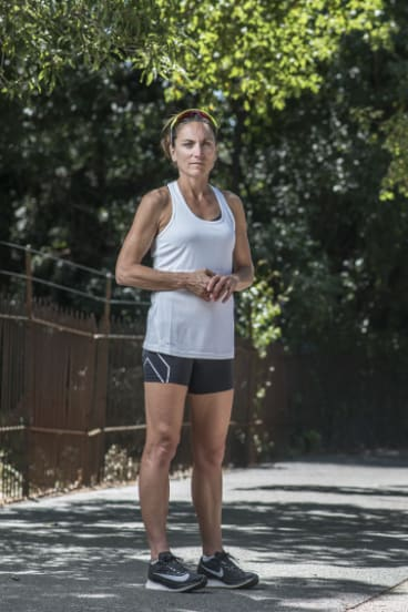 Emma Carney, now 46, is restricted to light exercise these days.